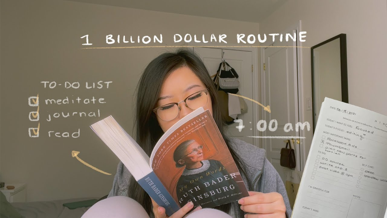 trying the 1 billion dollar morning routine!
