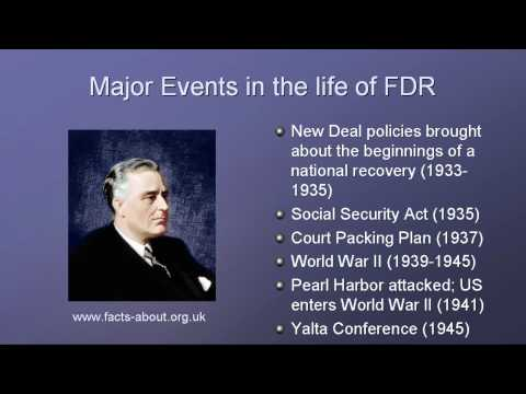 President Franklin D. Roosevelt Biography
