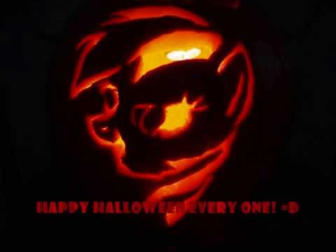 Rainbow Dash Pumpkin Carving