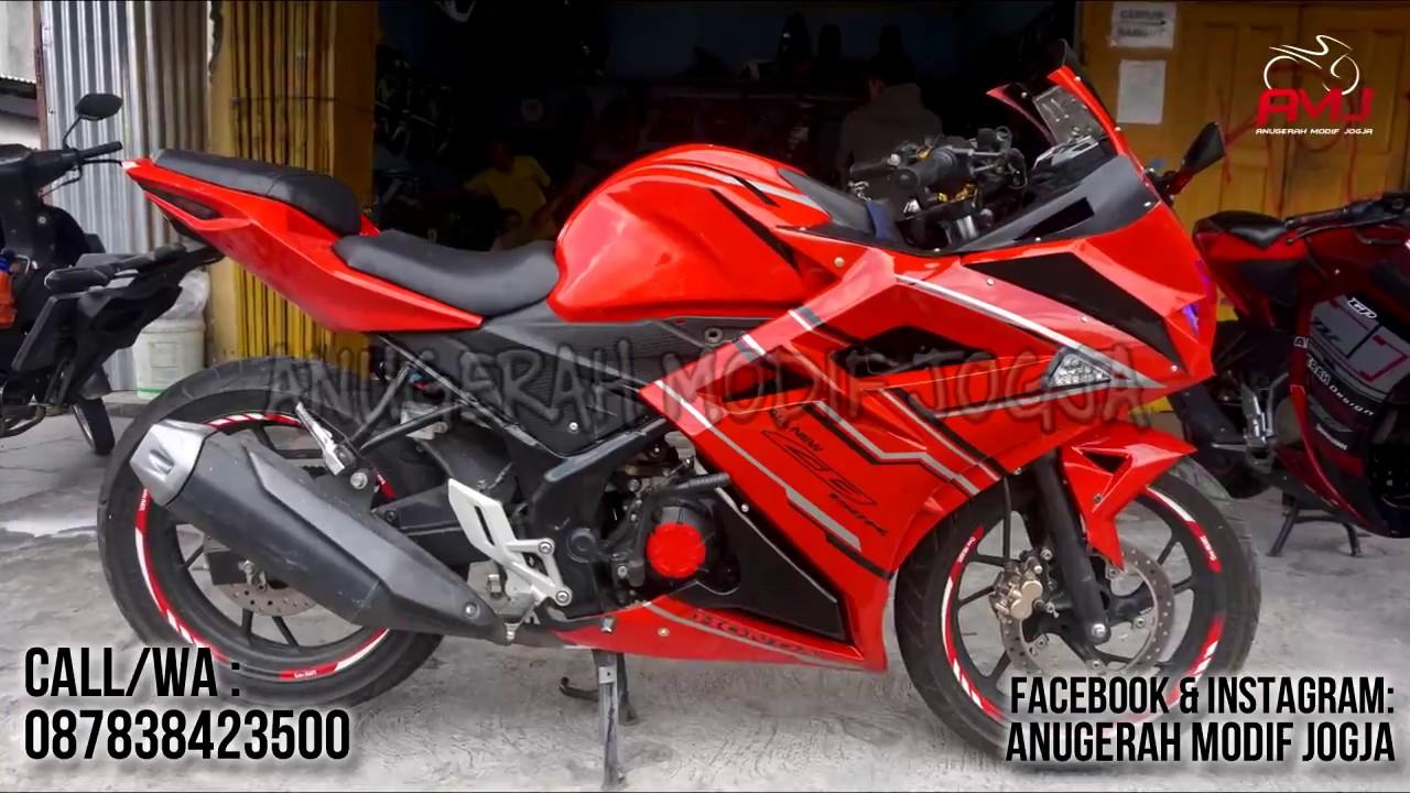 Foto Modifikasi Motor New Cb150r Kawan All Cb 150r Streetfire Raptor Black Sleman Fullset Ala Cbr250rr Youtube