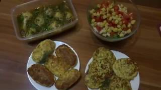 Несколько блюд для домашнего ужина