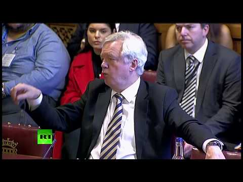 LIVE: David Davis gives evidence to House of Lords EU committee