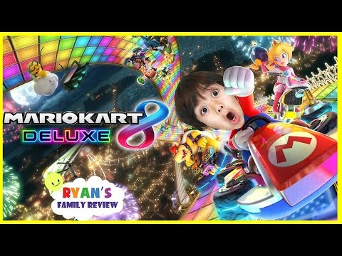 Make Ryan and Daddy Game Night! Let's Play Mario Kart 8 Deluxe with Ryan's Family Review Snapshots