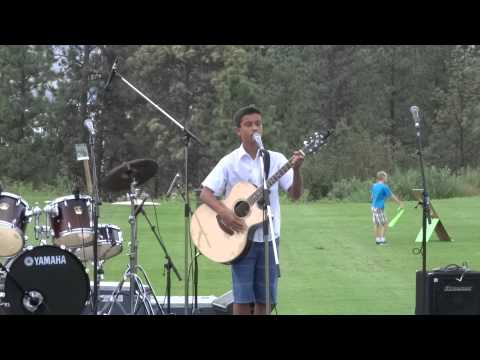 Adrian live at West Kelowna's Music in the Park