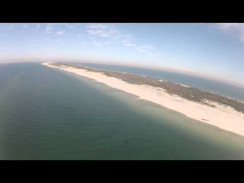 Flying Mississippi Barrier Islands- Petit Bois and Horn Islands