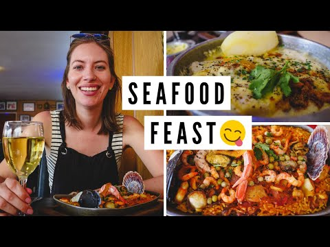 Mouth Watering ARGENTINE SEAFOOD Lunch!   Visiting PUERTO MADRYN, Argentina