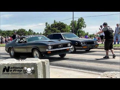 Big Tire Mustang vs Buick Gran National on small tire in El Reno Route 66