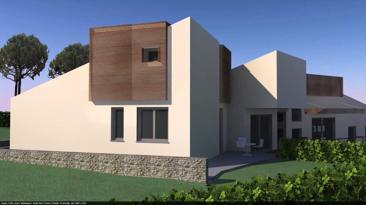 Progetto villa unifamiliare for Villa moderna progetto