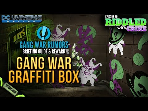 DCUO Episode 29: Gang War Rumors Briefing Guide and Reward - Gang War Graffiti Pack
