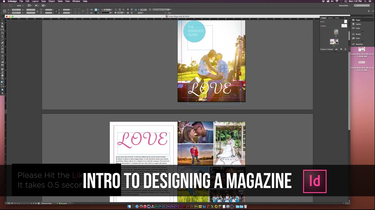 How to Design a Magazine in Indesign CC Tutorial - YouTube