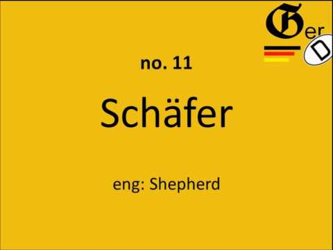 SiG | 30 most common German surnames [+PRONUNCIATION]