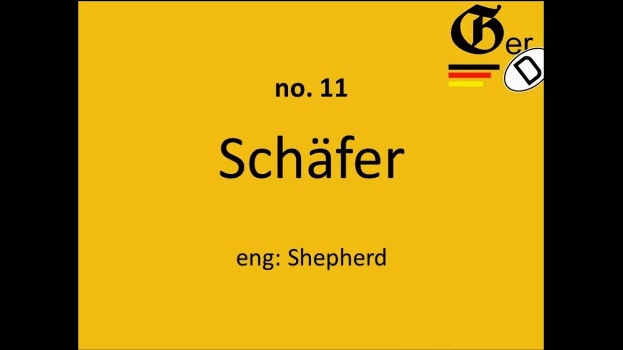 Sig 30 most common german surnames pronunciation youtube kristyandbryce Images