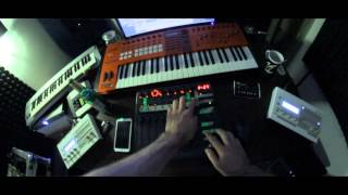 BeLogic - 2x Virus TI snow Live trance 2013 with BCF2000 and FL studio