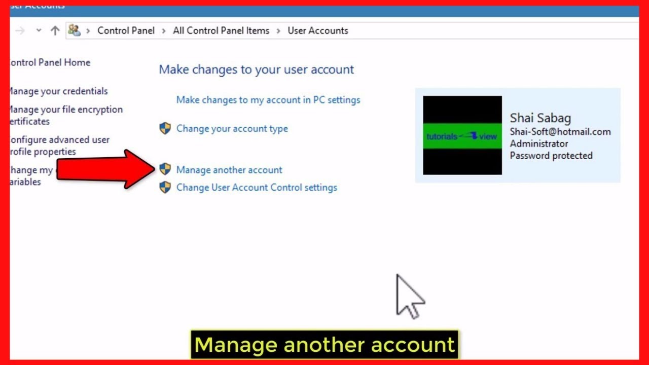 how to create a new local user account in windows 10 tutorial