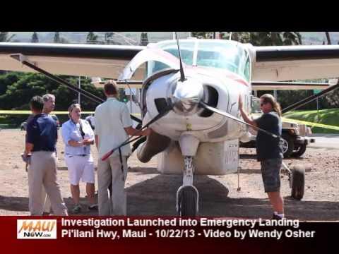 FAA Investigates Emergency Landing of Mokulele Plane on Piilani Hwy