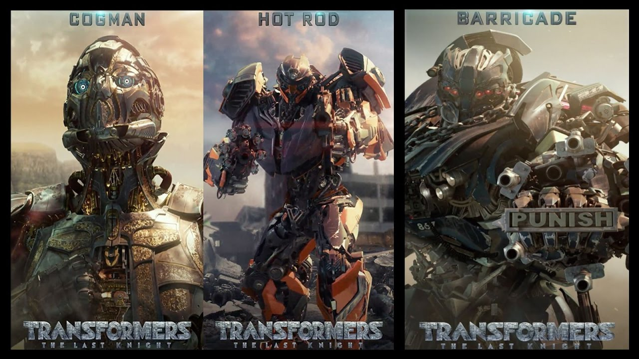 transformers the last knight cgi roster motion posters youtube
