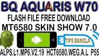 BQ AQUARIS W70 FLASH FILE MT6580  VER 5.1 HOW TO FREE DOWNLOAD & FLASH