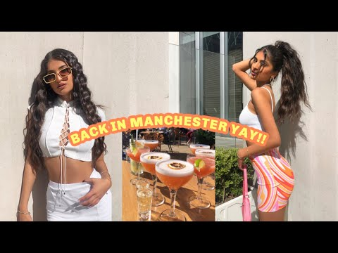 VLOG: FINALLY BACK IN MANCHESTER!! getting drunk, shopping & mini hauls | Kim Mann