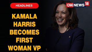 Kamala Harris Takes Oath As First US Woman Vice President Breaking Historic Barriers | CNN News18