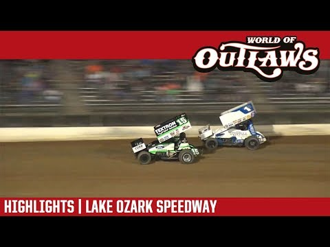 World of Outlaws Craftsman Sprint Cars Lake Ozark Speedway May 4, 2018 | HIGHLIGHTS