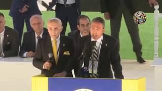 Yeni Başkan Ali Koç'un konuşması sırasında gerginlik