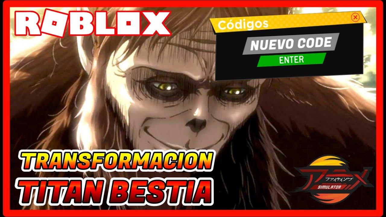 (NUEVO CODE) ACTUALIZACION DIMENSION 5 *Titan Bestia Transformación* Anime Fighting Simulator ROBLOX
