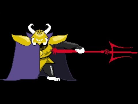 Undertale Colored Sprite Mod - Teaser (The making of Asgore)