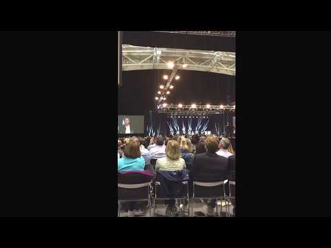 Tony Robbins interviewing Tom Brady and Julian Edelman in Boston June 2017