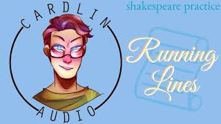 ASMR Voice: Running Lines [Cute/Funny] [Practicing Shakespeare]