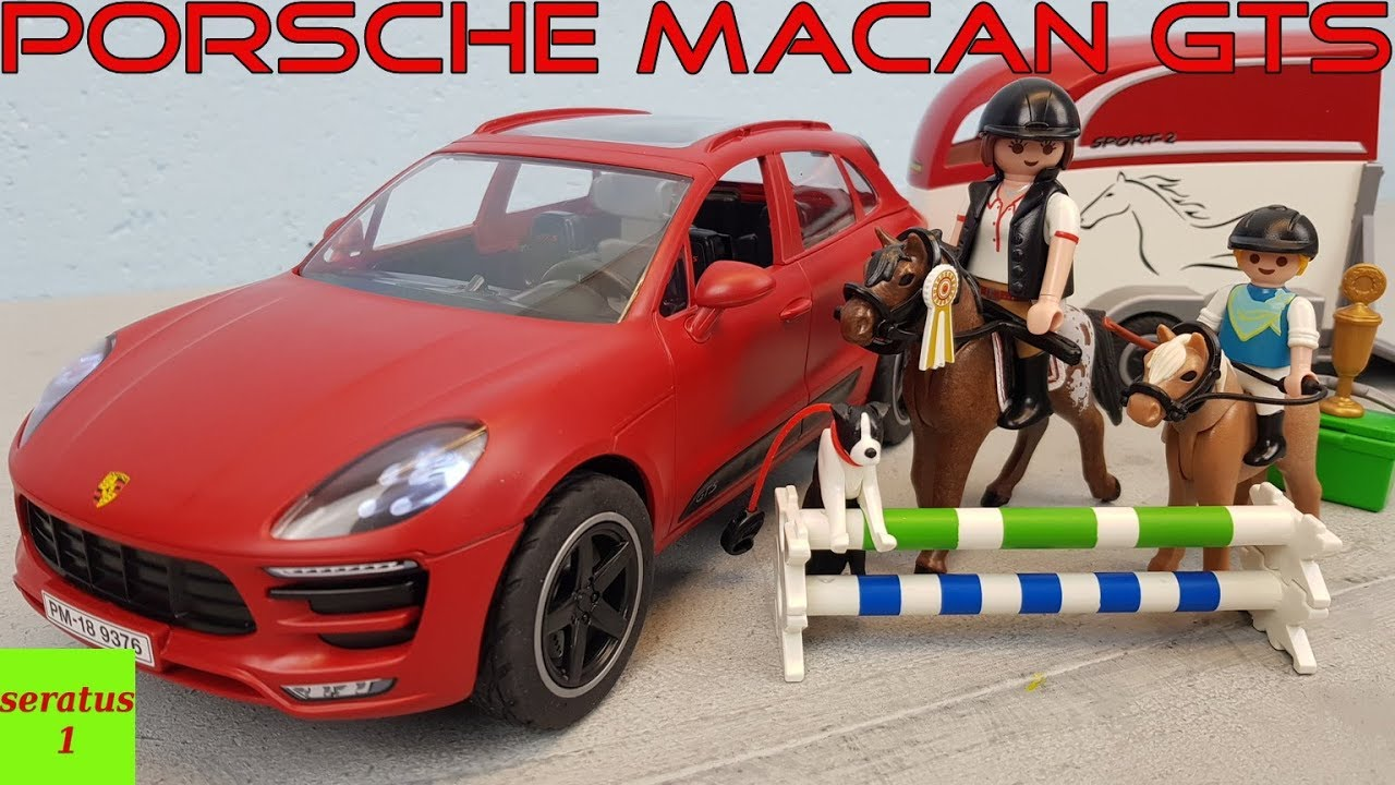 playmobil porsche macan gts mit pferdeanh nger 9376. Black Bedroom Furniture Sets. Home Design Ideas
