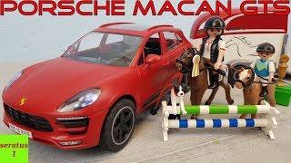 Playmobil Porsche Macan GTS mit Pferdeanhänger 9376 auspacken seratus1