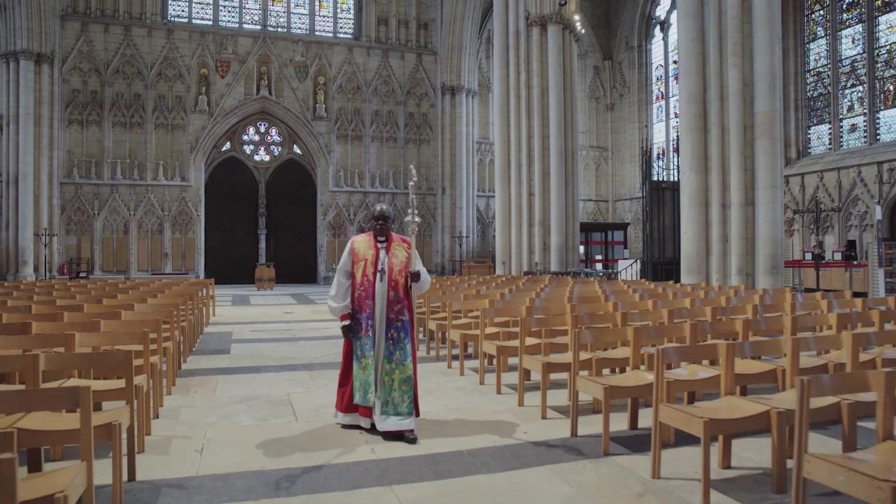 Archbishop Sentamu lays down his crozier