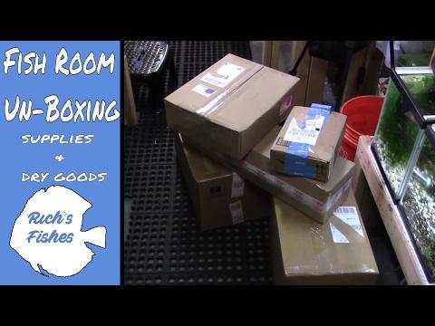 Fish Room Unboxing🐠:  supplies, dry goods, medications etc🐟 how to set eheim jaegar heaters