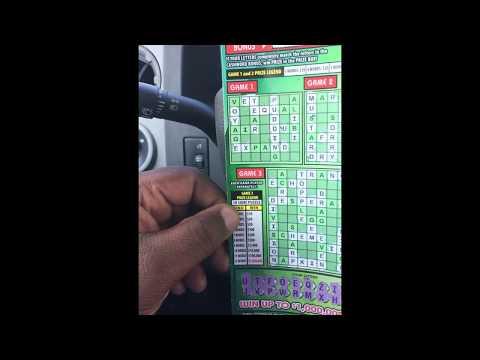 I won!!! CashWord New Florida Lottery Game