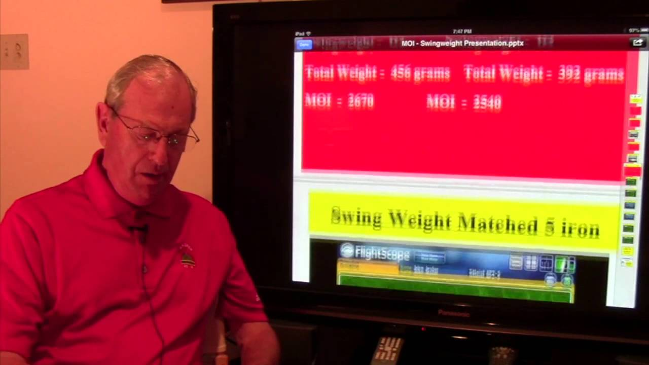 Golf Club Fitting Moi Vs Swing Weight Matching Youtube