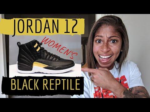 sale retailer 2fb4b a019b Talking Sneaker Releases with TJ - Air Jordan 12 Women's BLACK REPTILE -  Releasing May 17 🙄???