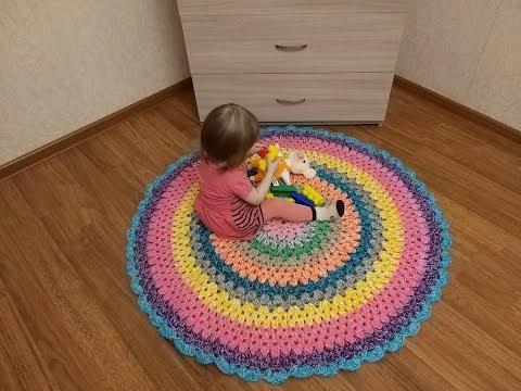 Схемы вязания круглых ковриков крючком для начинающих