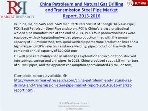 China Petroleum and Natural Gas Drilling & Transmission Steel Pipe Market 2016