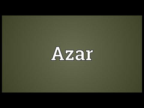 Azar Meaning - YouTube