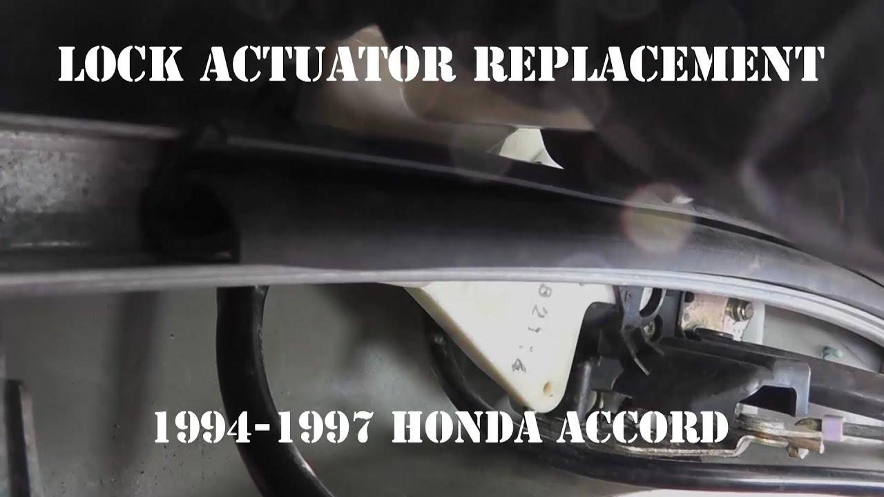 1994 1997 Honda Accord Door Lock Actuator Replacement