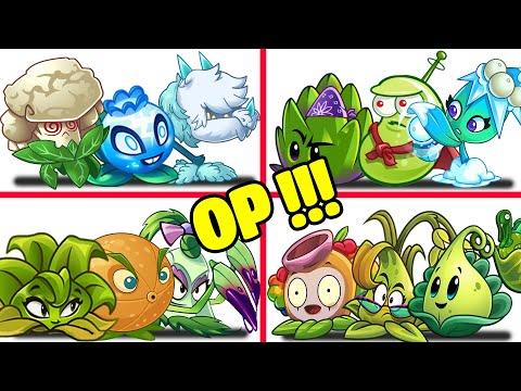 PvZ 2 4 Super Team Plants Vs Team Zombies Part 6 - Team So OP !!! |