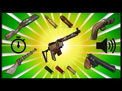 Rust Academy: LOW TIER GUNS | DAMAGE, SOUNDS, DRAW & RELOAD TIME