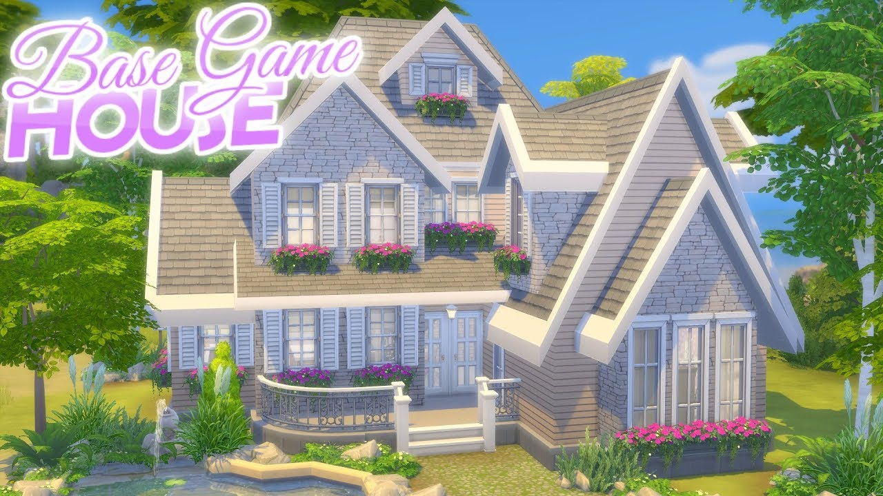 BASE GAME ONLY Home | The Sims 4: Speed Build House (No CC) No Packs