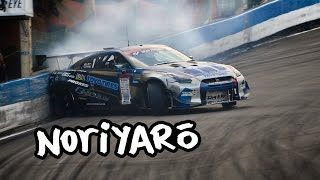 Drift GT-R misses crashing by inches! Kawabata in the GReddy R35 D1GP GT-R at Ebisu Circuit