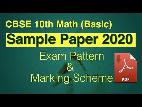CBSE Class 10 Math Basic Sample Question Paper 2020 | Know The Exam Pattern & Marking Scheme