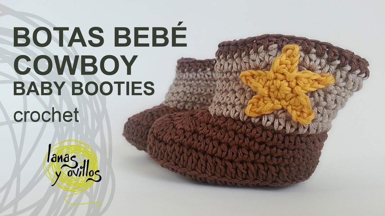 Bonito Bebé Botas De Vaquero Patrón De Crochet Imagen - Manta de ...