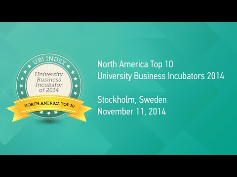 University Business Incubator Rankings 2014 - North America Top 10