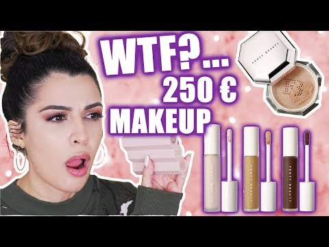 FENTY BEAUTY 250€ MAKEUP! 🔥 OK, RIHANNA... CONCEALER, FOUNDATION, HIGHLIGHTER 2019 | KINDOFROSY