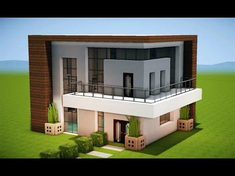 Minecraft como fazer uma casa moderna 204 for Casas modernas para minecraft
