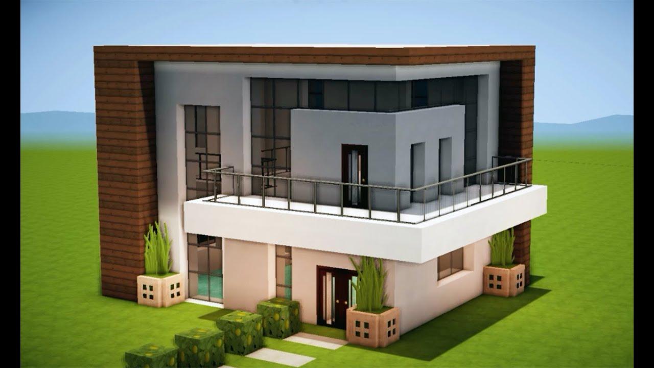 Minecraft como fazer uma casa moderna 204 youtube for Casas modernas grandes minecraft